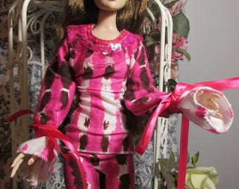 Handmade Doll Clothes, Bohemian Look Pant Suit, Autumn Fun, Fits 16 inch Tonner Cami or Antoinette dolls, Sale!