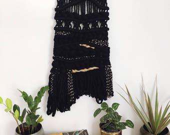 ECLIPSE OOAK modern macrame wall hanging, woven wall hanging, fibre art