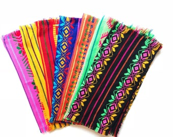 Mexican napkins, fiesta decorations, mexican party decorations, cinco de mayo fiesta, fiesta party, mexican fiesta, SET OF 4