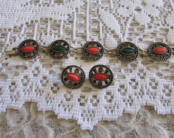 Vintage Emmons Jewelry/Vintage Emmons Demi Parure/Vintage Emmons Jewellry/Vintage Emmons Jewels/Vintage Demi Parure