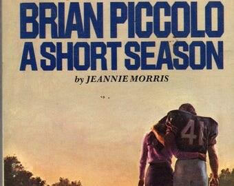 Brian Piccolo Short Season Movie Paperback Book 1974 Dell