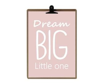Nursery print - Nursery art prints - baby nursery decor - Pink Color - nursery wall - Children Art - Kids Room