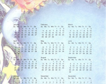 "Portrait One Page One Year 2018 Calendar Printable PDF Download 8.5""x11"" Wall Calendar Put Your Own Photo On The Top"