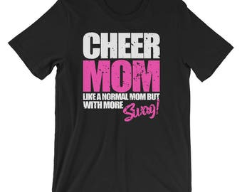 Cute Cheer Mom T Shirt Funny Cheerleader Gift For Girl