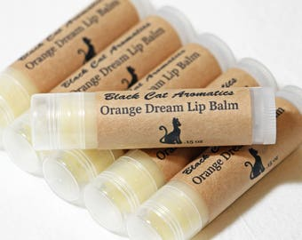 Organic Orange Dream Lip Balm, All Natural Lip Balm, Orange Lip Balm, Essential Oil Lip Balm