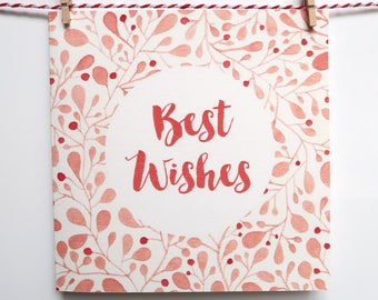 Best Wishes Floral Greeting Card