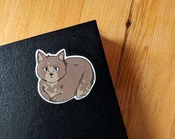 Loafing Kitty Vinyl Stickers (Pack of 4)