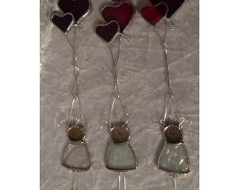 Stained glass Love Balloons Cartoon Character Mothers Day