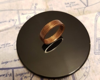 American Walnut Bentwood Ring - Handcrafted UK - Custom Size - Real Wood