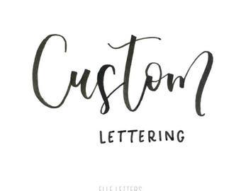 Custom Lettering Print