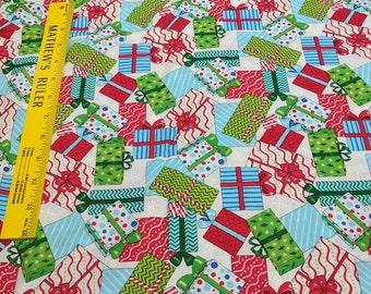 Ho! Ho! Ho! - Gifts-Cotton Fabric by Deb Strain for Moda Fabrics