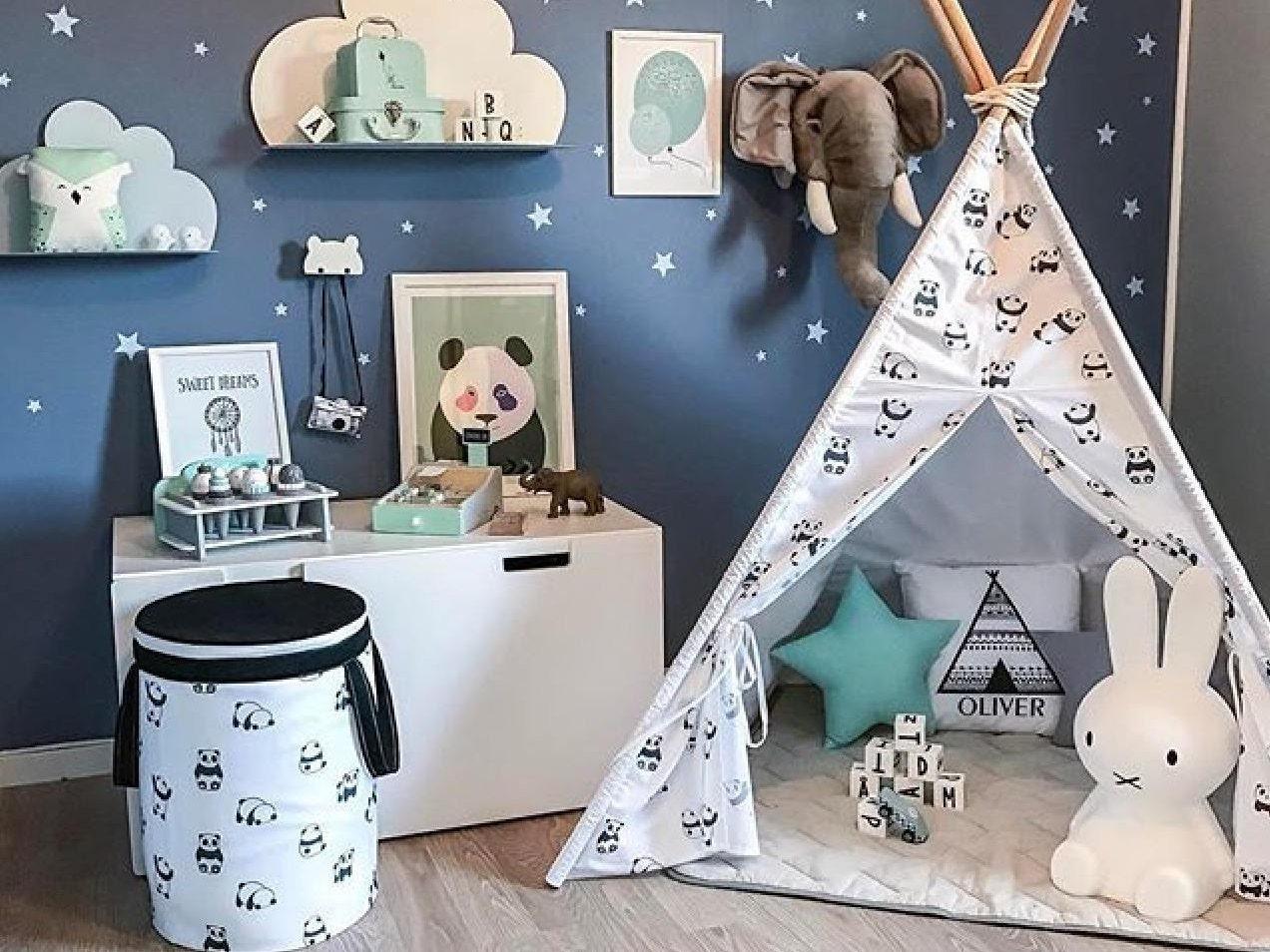 les enfants noir et blanc tipi avec des pandas tipi avec. Black Bedroom Furniture Sets. Home Design Ideas