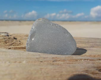 "Genuine Grey Sea Glass -Size 1.2""-Craft Quality- For Jewelry Art-Craft Supplies-#G24#"