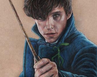 Newt Scamander Fantastic Beasts Art Print