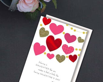 daughters card valentines cards daughter valentine card valentines for her valentiness day
