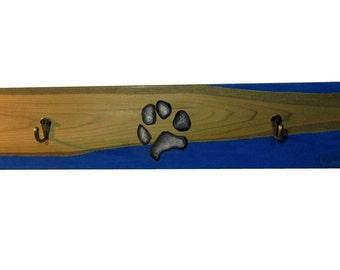 Dog Paw Leash Wall Coat Rack - Accessories Home Decor Dog Paw Wall Coat Rack - Rustic Wall Coat Rack Leash Hook Unique Paw Print