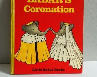 Little Babar book, Babar's Coronation, Jean De Brunhoff, hardback, 1969.