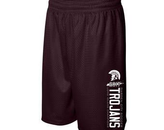 Unisex Mesh Shorts  - Garden City - High School - Soccer - Trojans - GCHS - Long Island Champions