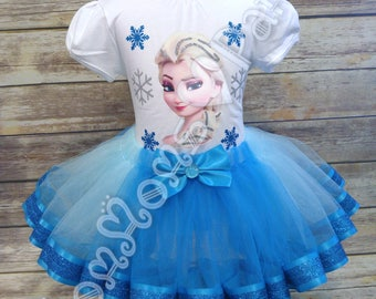 Frozen tutu, Elsa tutu, Princess tutu, frozen theme, birthday tutu, frozen birthday tutu, ice princess tutut, elsa outfit, frozen shirt,