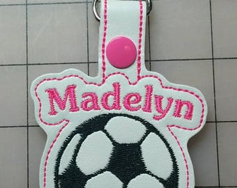 Personalized Soccer Key Fob