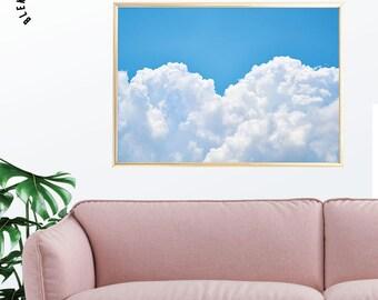 Clouds Wall Art, Sky Print, Sky Photography, Bright Prints, Colorful Wall Art, Pastel Art, Minimalist Art, Textures Prints, Printable Art