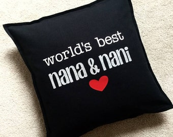 World's Best Mom Mother Mommy Dad Daddy Father Baba Grandma Grandmother Grandfather Grandpa Aunt Uncle cushion cover pillow personalized
