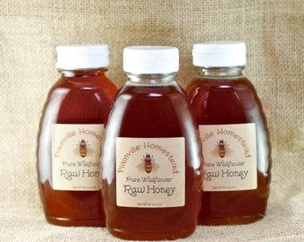 Organic Raw Honey || Raw Honey || Wildflower Honey