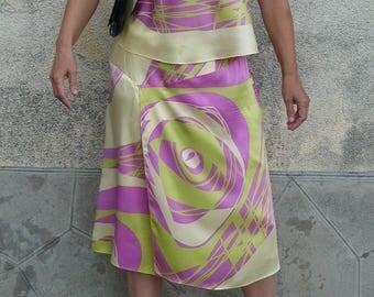 all silk size 42 / 44 L/XL Helena Sorel 70s