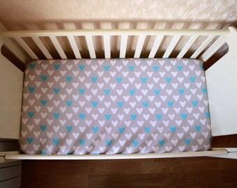 Fitted Crib Sheet, Baby Sheet, Baby Crib Sheet, Baby Bedding, Crib Bedding