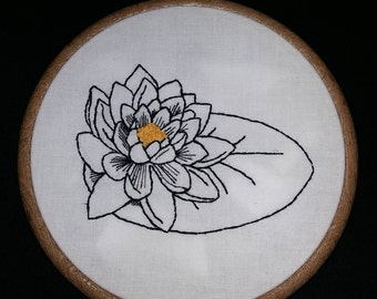 Water Lily Pad Embriodery Hoop