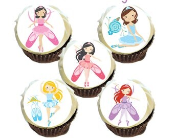 Cute Ballerina Edible Images * Cupcakes, Oreo's * Printed on Premium Quality Icing Sheets