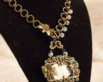 Butterfly Mirror Necklace