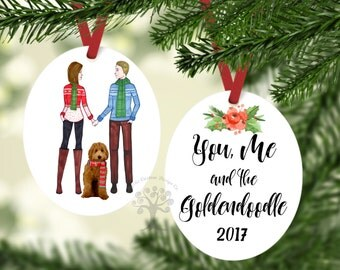 You, me and the Goldendoodle Ornament, Goldendoodle Ornament, Labradoodle Ornament. Cockapoo Ornament, Goldendoodle Gift, Labradoodle Gift
