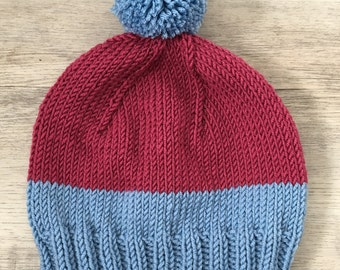 Two - Tone Toddler Knit Beanie
