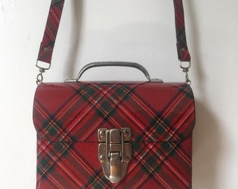 1970's Plaid Structured Purse