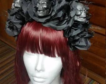 Skull flower head dress