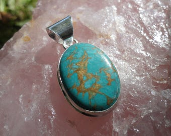 turquoise pendant, 925 sterling silver