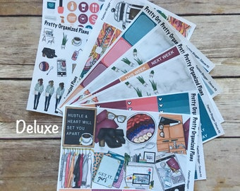DELUXE KIT | Fashion Blogger | Weekly Sticker Kit for Erin Condren Vertical Layout | 8 Pages, 230+ Stickers