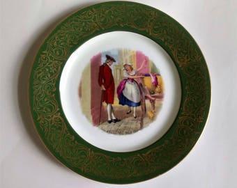 Vintage Display Plate Cries Of London Fine Black Cherries