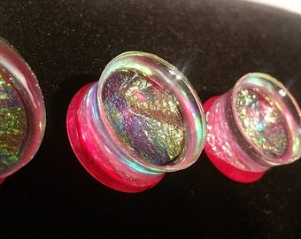 Pink Fuschia Plugs Angelic Fantasy Shimmer Gauge