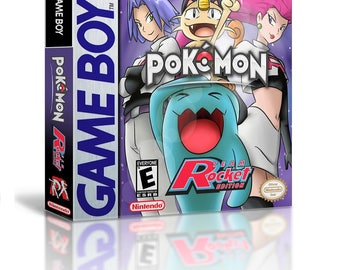 Pokemon Team Rocket Edition (Game + Case) Nintendo Game Boy (GBC GBA) -(English Fan Hack) Gameboy