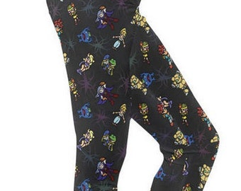 Chrono Trigger Leggings - Video Game Leggings Cosplay Leggings Comicon Leggings Videogame Leggings 8-bit leggings pixel leggings