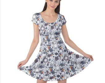 Labyrinth Worm Dress - Short Sleeve Skater Dress Labyrinth Dress Cosplay Dress Comicon Dress Plus Size Dress Labyrinth Movie Tea Dress