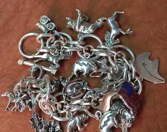 Sterling Silver 18 Charm Bracelet