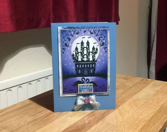 Female/Girl Birthday Card  - Castle/Fantasy - luxury personalised quality bespoke UK -Mum/Grandma/Daughter/Aunt/Niece/Sister