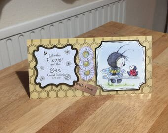 Female/Kids/Childrens Birthday Card - Bumble Bee  - luxury personalised unique quality UK - Mum/Grandma/Daughter/Aunt/Niece/Sister/Wife