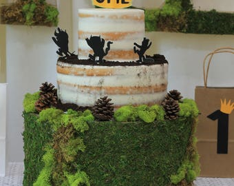 Wild One,Wild one birthday,Wild one cake topper, Wild Things,One,First birthday,first birthday cake topper,wild one topper