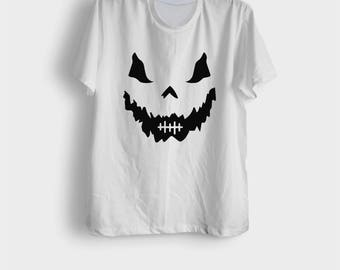 Funny halloween shirts mens womens jack o lantern pumpkin shirt horror t shirts halloween party graphic tees gifts