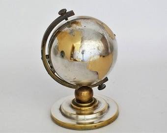 Vintage 7 Jewels Europa World Globe Clock