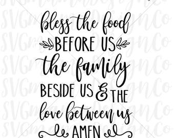 Bless The Food Before Us SVG Cut File Printable Vector Image for Cricut and Silhouette